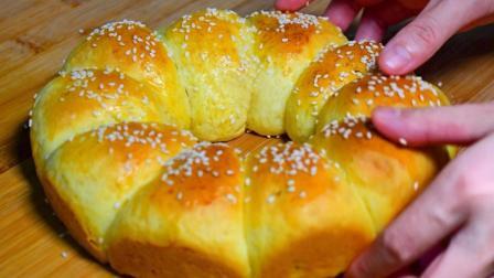 家庭版面包, 松软可口, 万条拉丝, 2分钟学会, 蛋糕店的配方诀窍