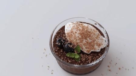 自制无蛋巧克力布丁, 香浓美味, 入口即化的巧克力甜品