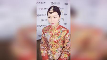 中式婚礼新娘发型课堂分享