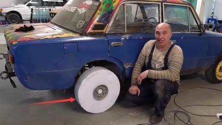 用A4纸做的车轮, 还敢秀车技, 网友: 老外真会玩!