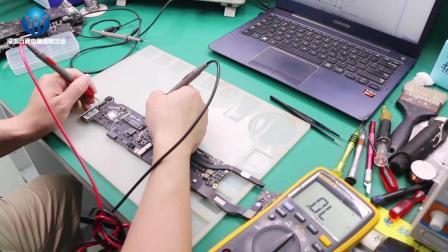 苹果笔记本A1466 15年款用示波器维修开机保护掉电 完整版视频