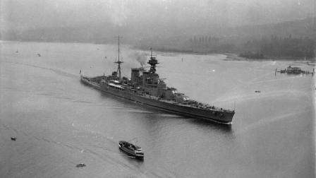 一战中最大的战列巡洋舰, 20年从未参战, 刚参战就被一炮击沉