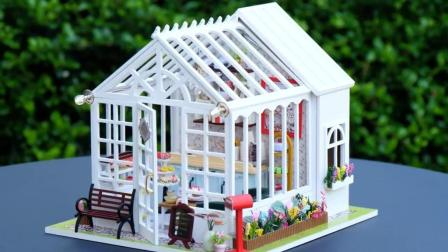 DIY迷你娃娃屋, 欧式风格的蛋糕店, 就怕下雨要漏水?