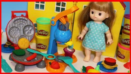 北美玩具 第一季 培乐多橡皮泥电饼铛烤炉和冰淇淋手工玩具