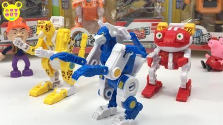 熊岀没小强哥分享快乐酷寳3青冥狼王变形玩具