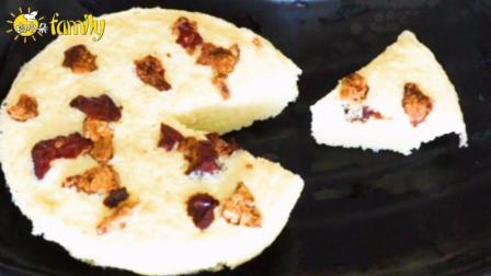 山药红枣蒸蛋糕,有了红枣浓郁的甜,山药也变得美味了许多!