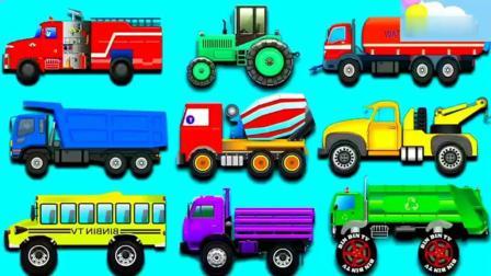 亲子丨益智: 学习火车和翻斗车等交通工具的名称和声音!