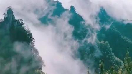 张家界天子山云海瀑布