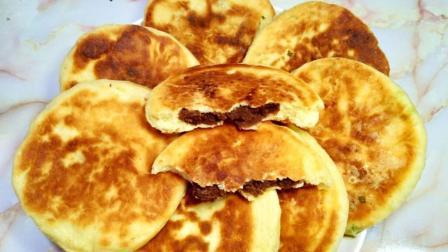 在家自制香酥豆沙饼, 外焦里软, 酥脆香甜, 详细做法一看就会