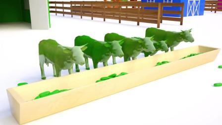 益智: 色彩启蒙, 和牧场里的奶牛骏马等动物学颜色识英语