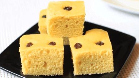 玉米面发糕, 好吃又好做的健康糕点! 做法简单味道比肉还香!