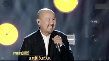 腾格尔神改编《隐形的翅膀》, 张韶涵在台下听愣了, 大叔唱功了得