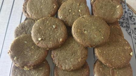教你在家做粗粮饼干, 无糖低油酥脆可口, 真材实料不放添加剂