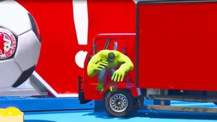 超级英雄开卡车动漫动画片1  认识颜色 卡车  婴幼儿早教游戏动画视频705