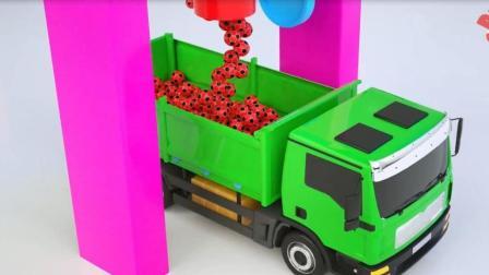 婴幼儿早教玩具动画片 装卸车运载冰淇淋游戏  认识颜色  英语启蒙