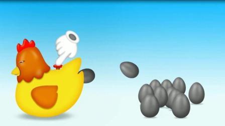 母鸡生鸡蛋变棒棒糖 认识颜色   学习英语  婴幼儿益智玩具游戏动画