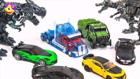 变形金刚透明擎天柱儿童玩具 全透明装甲 帅气机器人