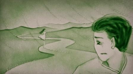 一首《漂洋过海来看你》总算出现沙画版了, 一次次的感动了!