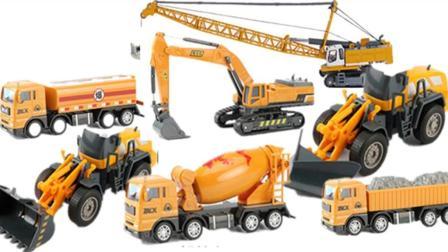 大号吊车儿童模型工程车套装 吊车压路机挖土机挖掘机玩具车