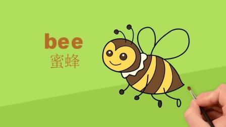 亲子英语: 春天都会看到可爱的小蜜蜂, 你知道它的英语怎么写吗?