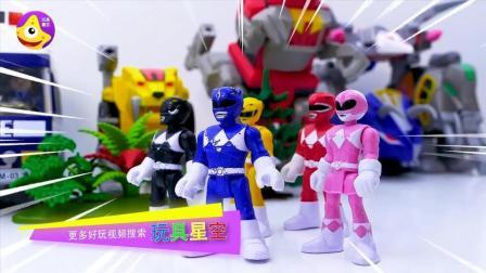 恐龙战队在训练时被入侵啦 驾驶神龙机器人击败入侵者