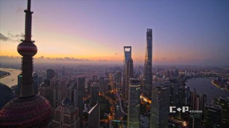 上海陆家嘴航拍长镜头