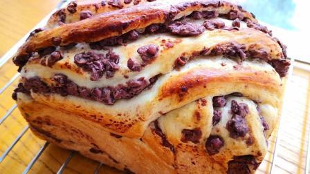 吐司面包不用出去买了, 一碗面粉, 一碗红豆, 在家做比买的还好吃