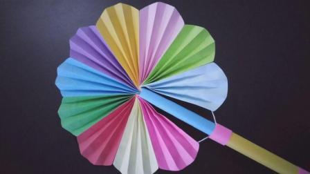 炎热的夏日教你制作可收缩的折扇, 简单易学有创意, 手工折纸视频教程