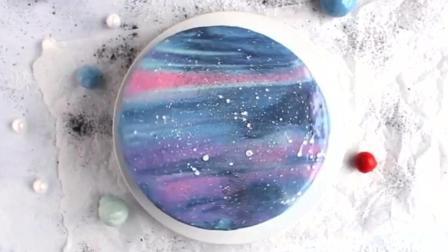 教你做网红星空镜面银河系蛋糕, 瞬间成烘焙大神