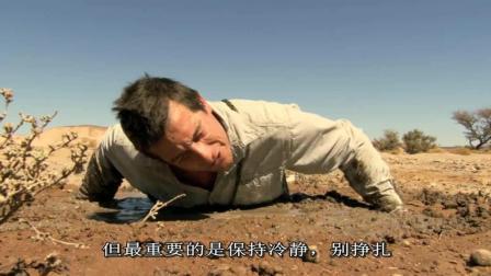 贝爷在撒哈拉沙漠, 体验流沙的威力!