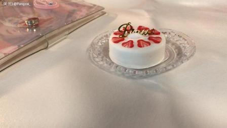 奶油草莓果酱手工粘土蛋糕教程