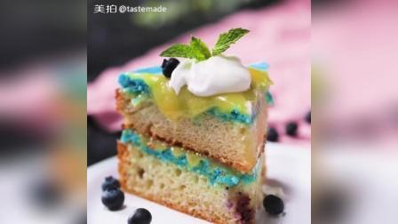 柠檬蓝莓马卡龙蛋糕教程