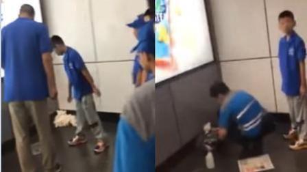 内地老师带学生在香港地铁随地大便 遭当地人怒怼