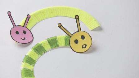 幼儿园手工: 纸盘做成好饿好饿的毛毛虫