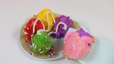 雪花彩泥diy冰淇淋蛋糕趣味手工玩具