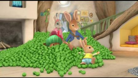 彼得兔: 兔妈妈正在切胡萝卜, 屋内忽然出现好多甘蓝菜
