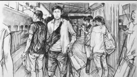 杭州厚一学堂美术教学视频第5讲-速写名师-付炎凯场景速写教学示范