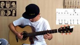 【潇潇指弹教学】《waiting for you 》第二部分吉他教学