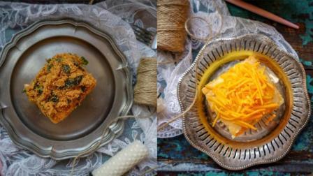 我的日常料理 第一季 海苔肉松加奶油芝士双拼戚风蛋糕