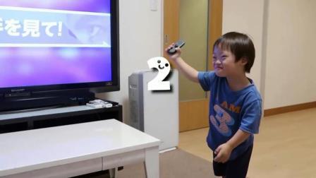 唐氏综合症宝宝用switch玩舞力全开, 感觉和正常孩子没啥区别!