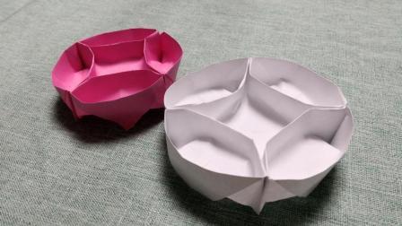 儿童手工折纸: DIY手工制作, 3分钟学会圆形糖果盒折法