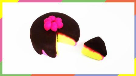 月采超Q食玩玩具 139 培乐多草莓巧克力小蛋糕 手工diy彩色粘土
