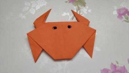 [折纸-视频教程]手工折纸, 如何折叠一只螃蟹, 超级简单的螃蟹折纸