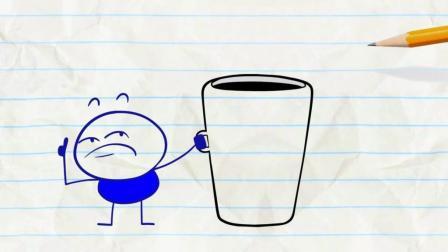 创意手绘漫画: 让人兴奋的咖啡, 喝了还想喝!