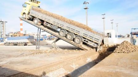 十年挂车司机不一定敢用的卸货方式! 是安全还是危险?