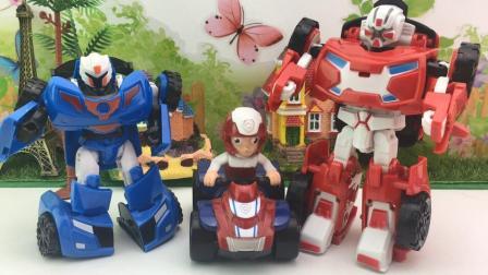 156 莱德队长玩转机器人变形汽车