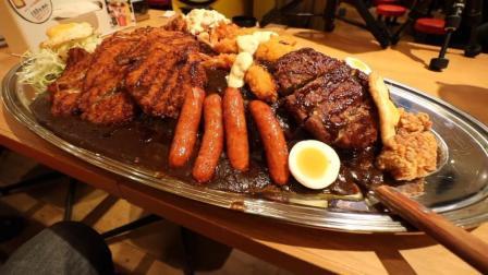 日本大胃王新井熊, 挑战6KG 超大盘咖喱肉排盖饭+热狗+鸡蛋+沙拉