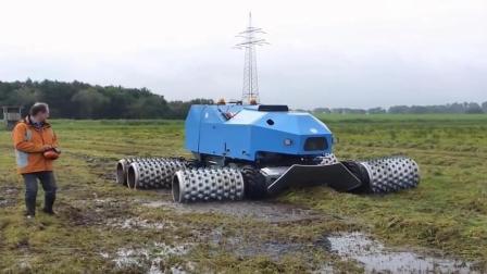 德国的割草机像战斗武器! 网友: 谁能阻挡它的脚步?