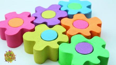萝卜玩具宝宝 亲子手工diy之制作创意彩色花瓣蛋糕
