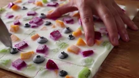 夏天必备《酸奶水果薄脆》搭配各种水果, 冰冰凉凉!